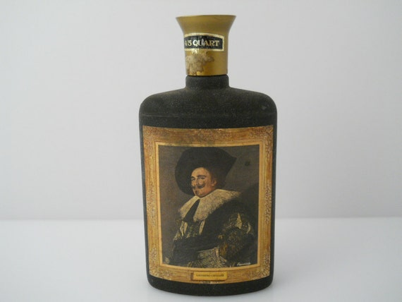 Laughing Cavalier Jim Beam Collector Series Textured Bottle c 1966
