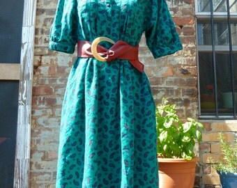 Vintage Paisley Dress S
