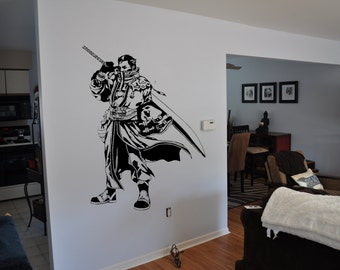Final Fantasy 10 Inspired Auron Wall Decal