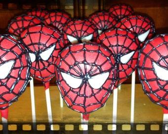Spiderman Inspired Superhero Cake Pops