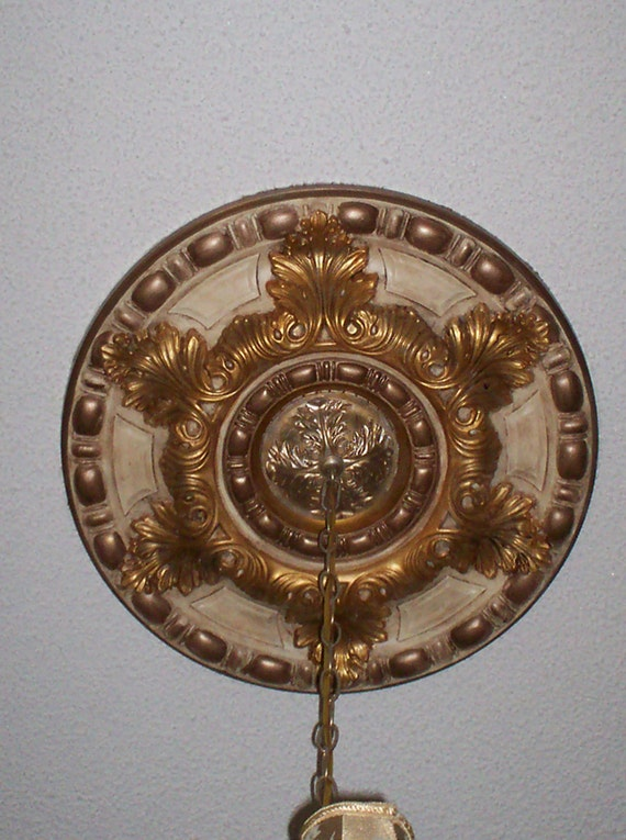Gold And Faux 23 Hand Painted Ceiling Medallion
