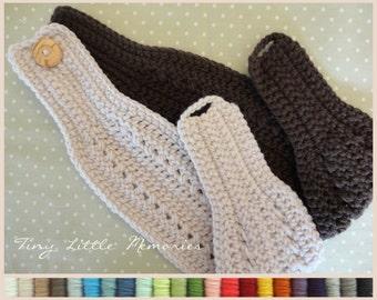 PICK 2:  Women's Head Warmer/Ear Warmer, Color Choice, Crochet - Headband