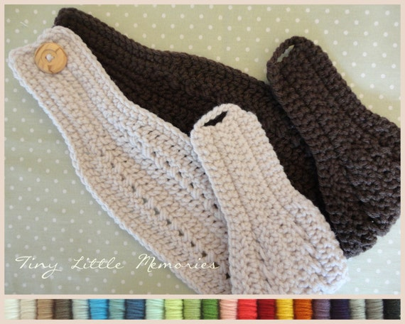 Crochet Patterns Head Warmers : ... Womens Head Warmer/Ear Warmer, Color Choice, Crochet - Headband