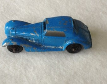Vintage Tootsie toy - 1939 Tootsie toy Mercedes - Vintage Diecast Toy Car -Tootsietoy Blue Mercedes
