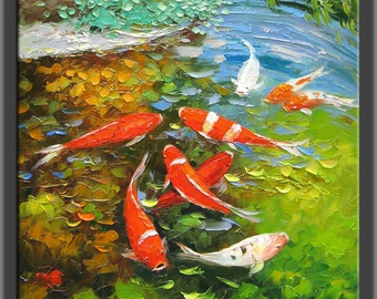 Image gallery koi oil painting for Cheap koi fish