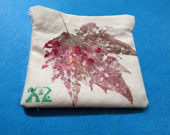 Handmade drawstring bag for iPhone cord
