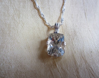 Sparkling Emerald Antique Cut  Kunzite Pendant