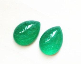 12pcs of resin dome tear drop 13x18mm RC1022-4-emerald