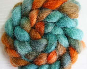 Devon Top Wool Roving - Handpainted Roving Fiber for Spinning and Felting
