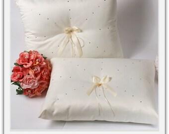 A set of Wedding Kneeling Pillow : Rhinestone