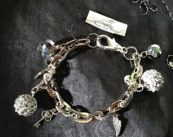 Winged Charm Bracelet