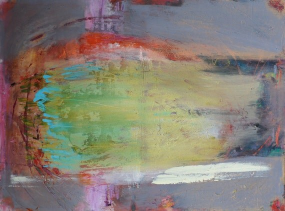 NAR KNOPPAR BRISTER - Original Abstract Acryllic painting on canvas