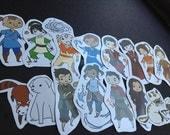Avatar: The Last Airbender & Legend of Korra Stickers-Set of 16