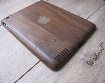 Ipad 2 case - wooden cases walnut or bamboo wood - apple