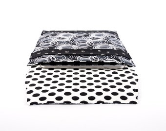 padded tablet cover, iPad case, netbook sleeve, Samsung Galaxy Tab, HP TouchPad, black white, minimalist swirls, polka dots, masculine manly