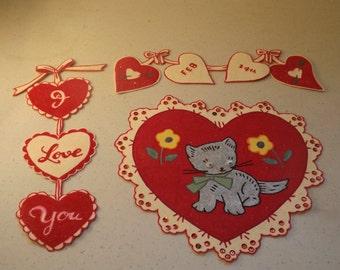 vintage valentine decorations - Vintage Valentine Decorations