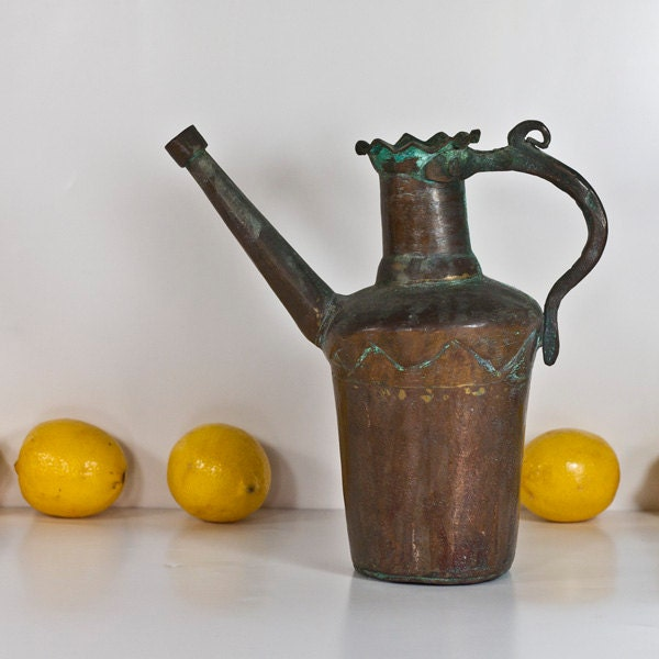 bronze krug gie kanne trichter vintage orientalische metall. Black Bedroom Furniture Sets. Home Design Ideas