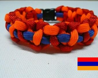 Armenian Flag Paracord Survival Bracelet