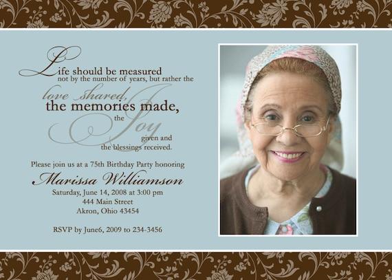 Adult Photo Birthday Invitations Custom Design