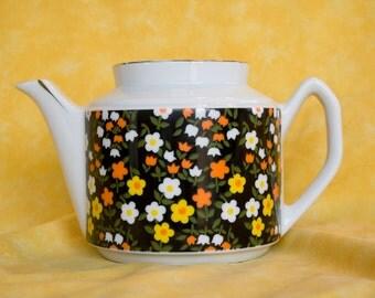 Petite Flowered Teapot