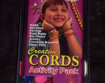 Creative Cords activity pack,makes 15 projects,group craft kit,USA Made,friendship bracelet,key chains,jewelry,kids craft,braiding,VBS,camp