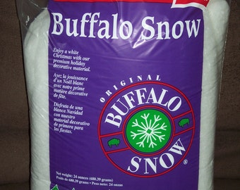 Buffalo Snow,24 oz value pack, Fiberfill style snow,stuffed animal stuffing,soft crafts,Christmas crafting,polyfill,100% polyester