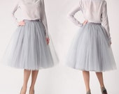 Silk blouse and tulle skirt, 100% silk blouse, silk top, tutu skirt, tulle skirt