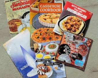 Old Cookbooks Small Mid Century