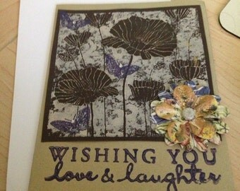 Greeting Card - Wishing you love & laughter