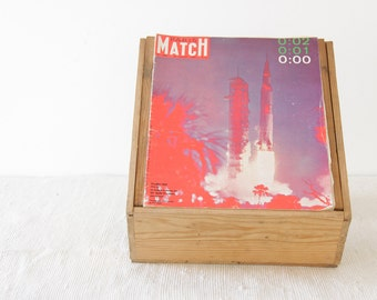 Rare Historical Vintage Paris Match - Apollo 11 - 26 July 1969 - number 1055