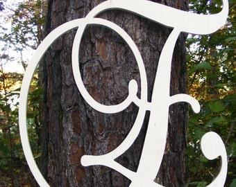 "20"" Wooden Letters Wall hanging - Wooden Initials Wall Decor - Family Initials - Nursery Letters for Wall - Door Hanger - Door Wreath"