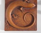 Skink Art Nouveau Style Lizard Realistic Wallsculpture Desert Southwest Art Decor Picture Tile Nature Gift