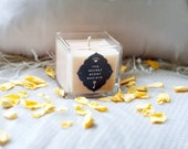 """Peach """"Frankincense & Myrr"""" Frankincense and Myrrh Scented 100% Eco Soy Wax Luxury Container Candle"""