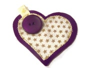 CLEARANCE SALE Christmas Brooch   Heart Jacket Pin   Womens accessory.  REDUCED