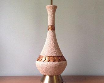 Large Mid Century Ceramic Lamp