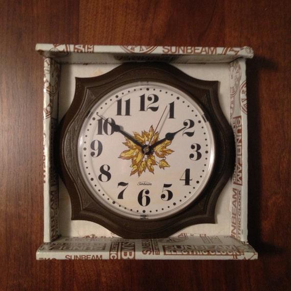 Retro Sunbeam Electric Wall Clock
