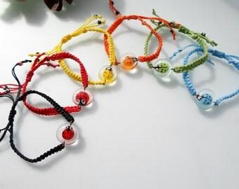 ladybug bracelet red ladybug lampwork  bracelet ladybug friendship bracelet red karma bracelet Beach Fashion