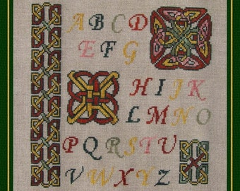 Celtic Sampler! Counted Cross Stitch Chart. Celtic Knot Design. Alphabet. Letters.Initials.Monogram.Sampler. X Stitch. DIY. Direct Checkout.