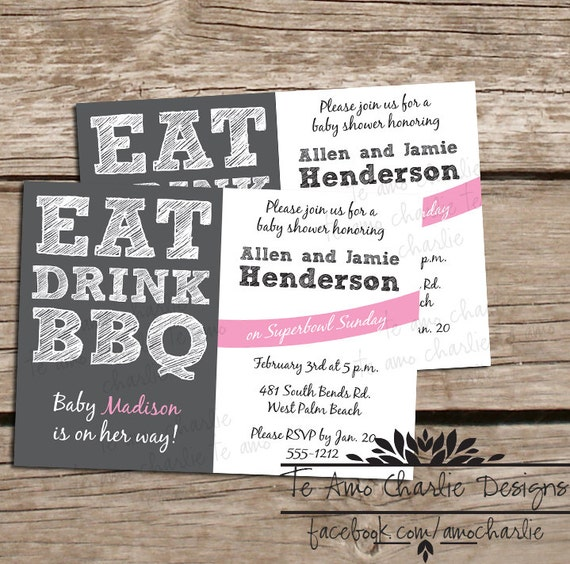eat drink bbq baby shower invitations eat drink and bbq invitations