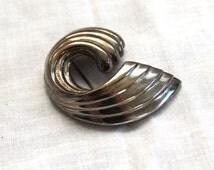 SALE 50% OFF Vintage Silver-Plated Wave Brooch