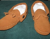 Custom Made Handmade Native American Style Woodland Scout II Leather Moccasins