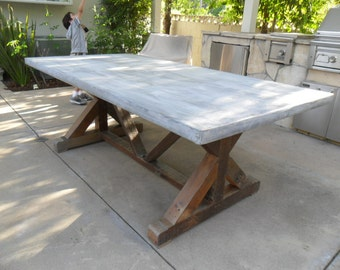 OUTDOOR TABLE.  Old reclaimed pine.  USA made.