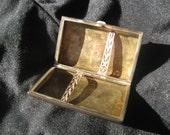 Antique Silver Cigarette Case Monogram JH
