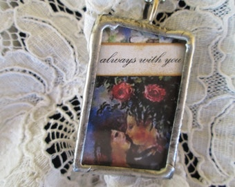 """soldered glass pendant, fine art prints, """"always with you"""", """"expect miracles"""", """"gratitude"""""""