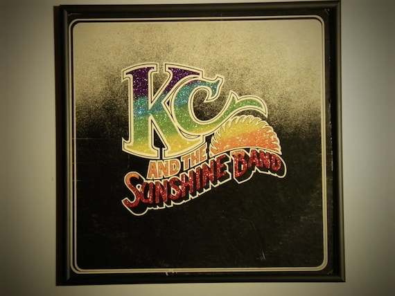 Glittered Record Album - KC and the Sunshine Band