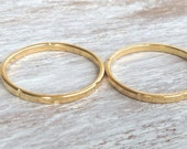 SALE Stacking rings, gold ring, thin gold ring, above knuckle ring, sizes 3.5 -7 US, simple ring, knuckle ring-0012