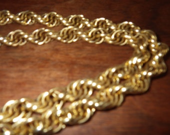 """Gold Coloured Chain-link Belt.  About 45"""""""