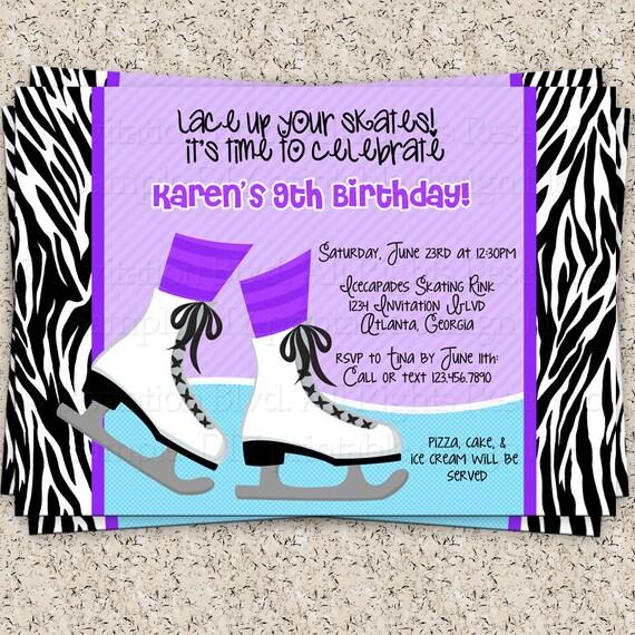 Ice Skating Party Invitation – Skating Party Invites
