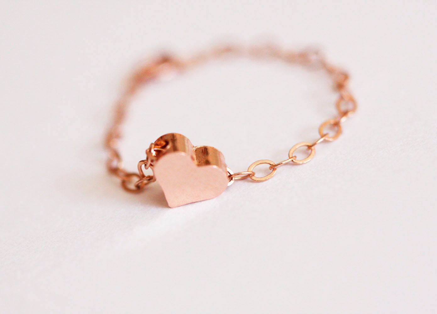 dainty heart ring rose gold filled heart ring stackable ring. Black Bedroom Furniture Sets. Home Design Ideas