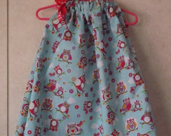 Whimsical Owl Pillowcase Dress
